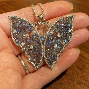 Jewelry - XL 925 iolite 🦋 pendant